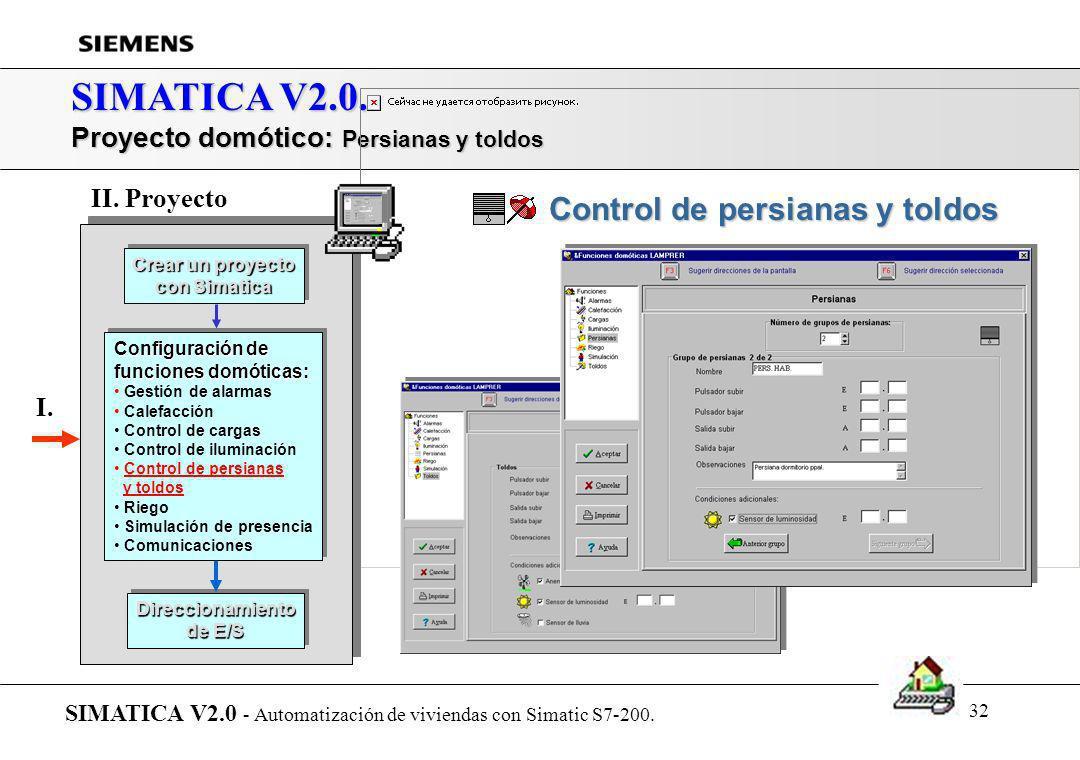 SIMATICA V2.0. Control de persianas y toldos