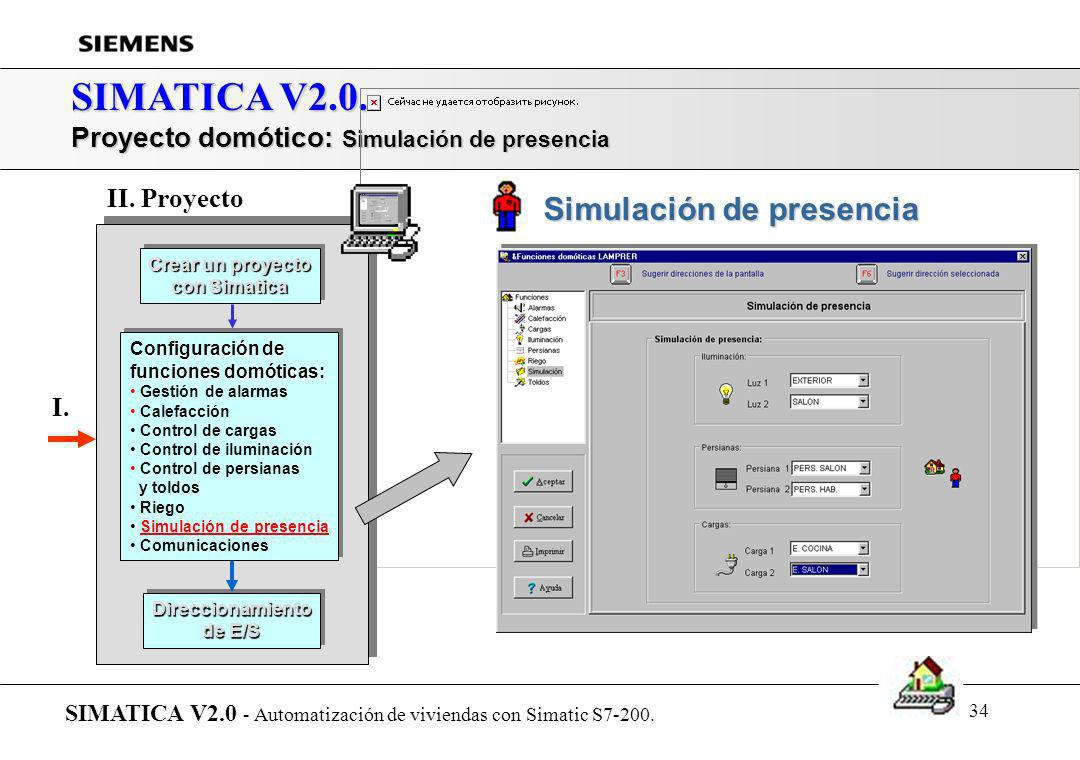 SIMATICA V2.0. Proyecto domótico: Simulación de presencia II. Proyecto