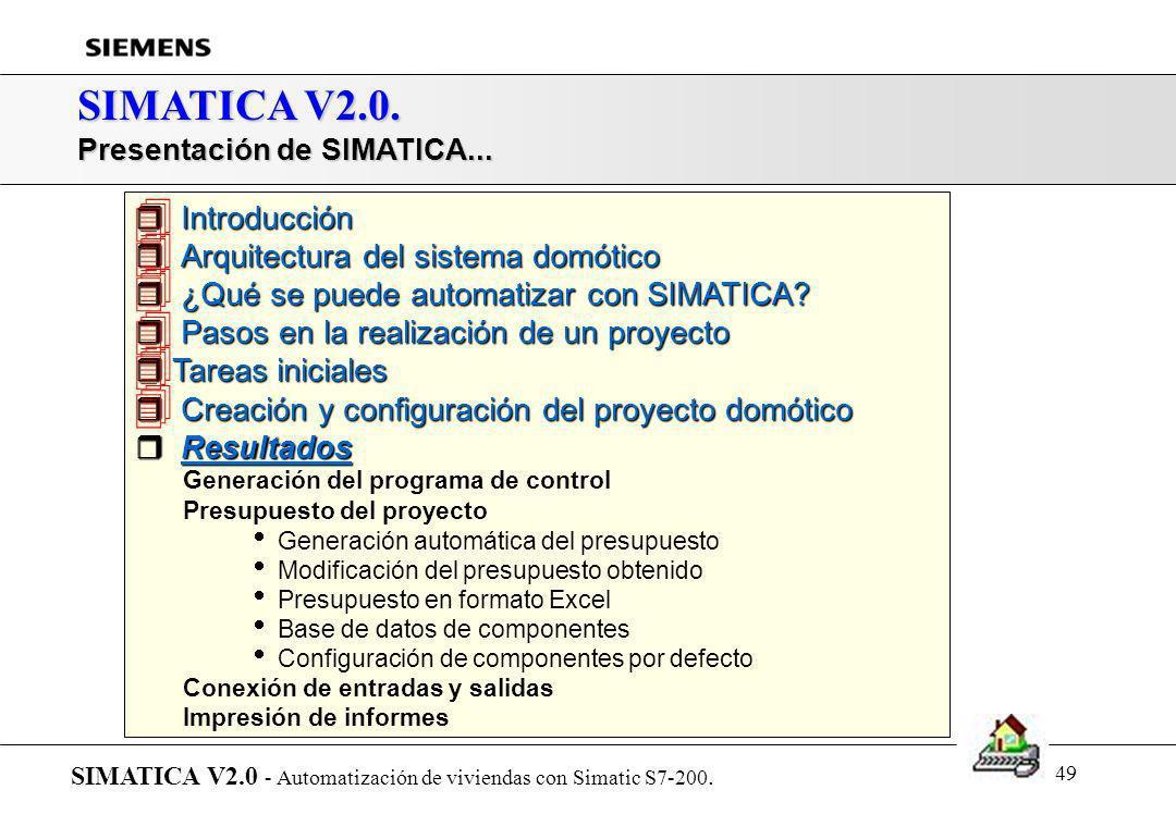       SIMATICA V2.0. Introducción