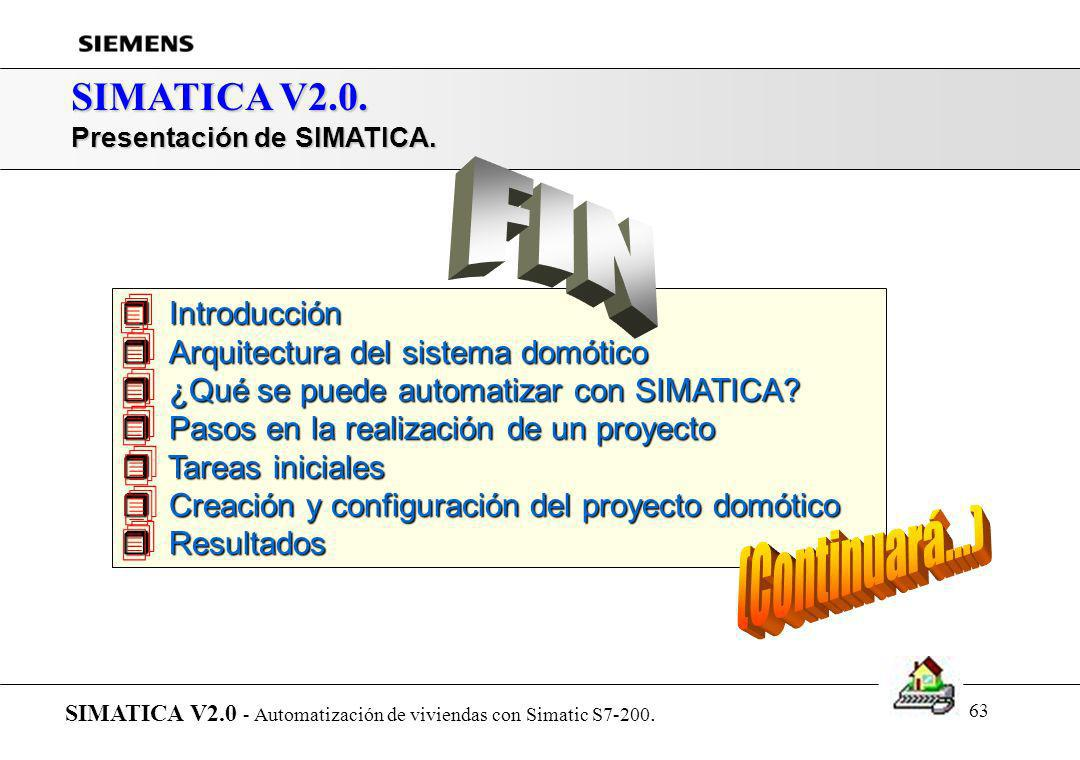 FIN (Continuará...)  SIMATICA V2.0. Introducción