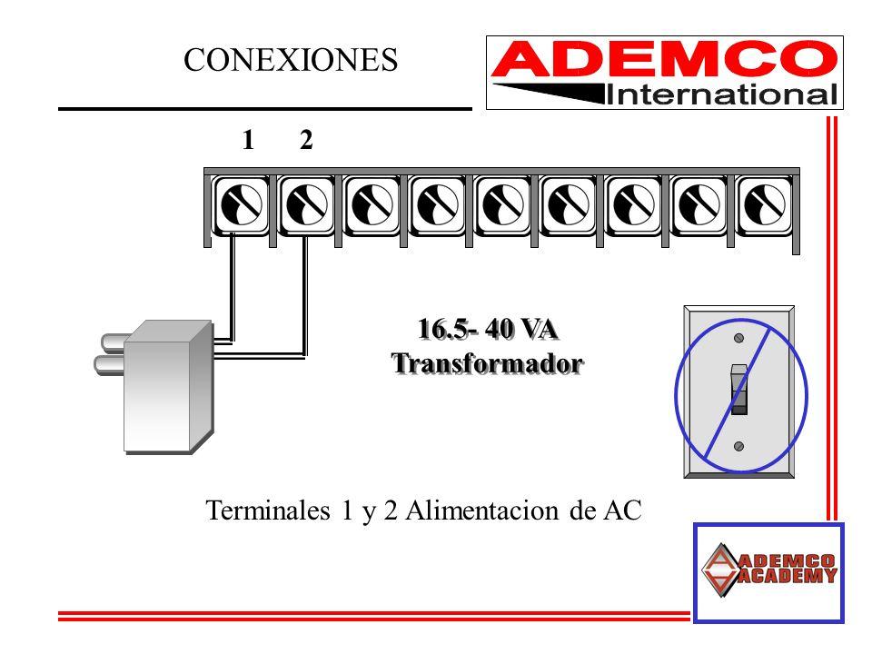 CONEXIONES 1 2 16.5- 40 VA Transformador