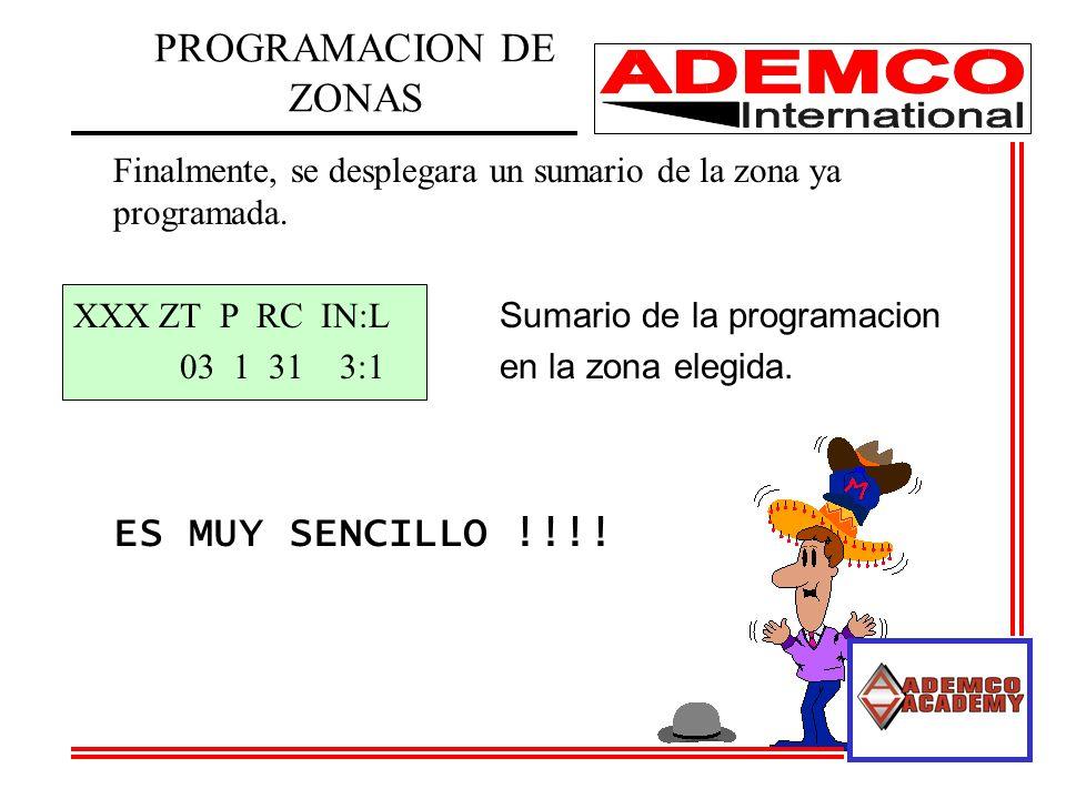 PROGRAMACION DE ZONAS ES MUY SENCILLO !!!!