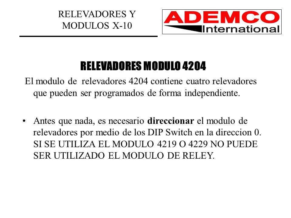 RELEVADORES Y MODULOS X-10