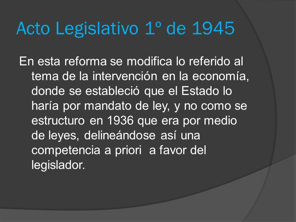 Acto Legislativo 1º de 1945