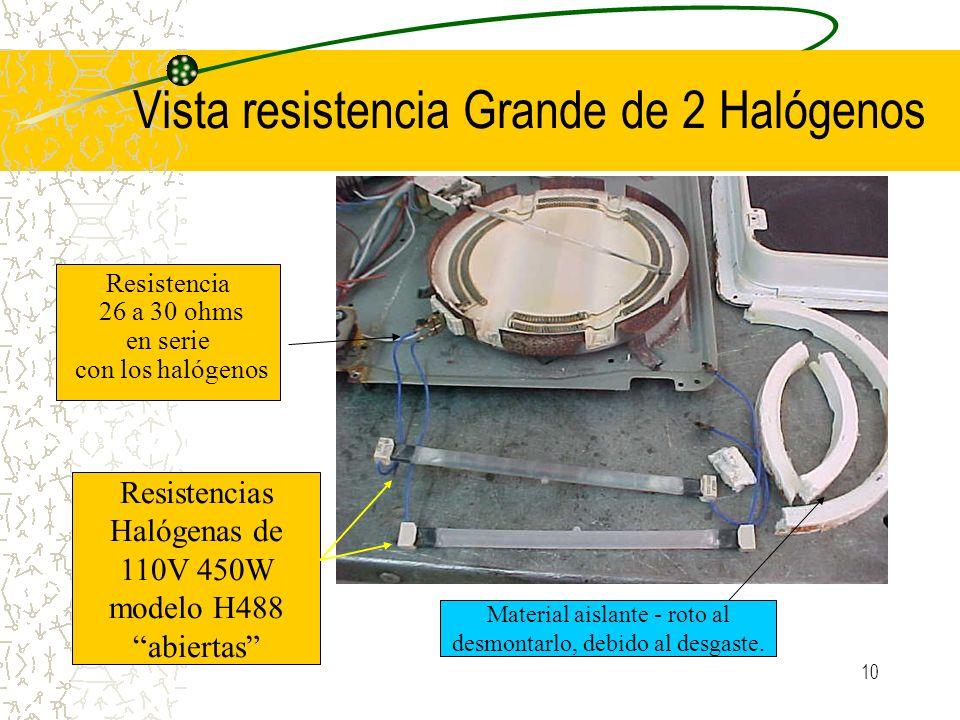 Vista resistencia Grande de 2 Halógenos