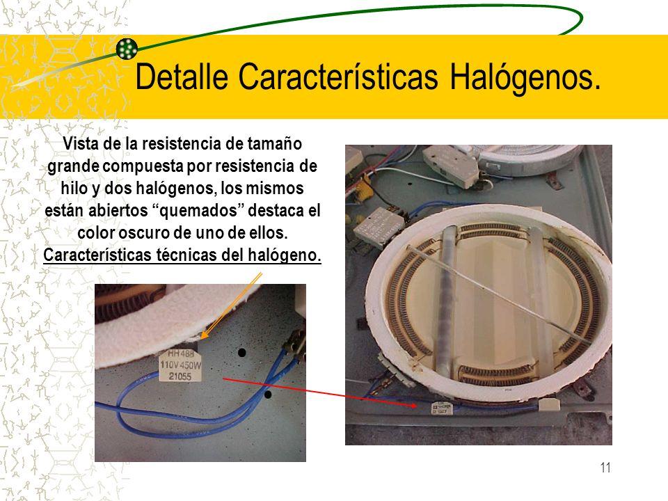 Detalle Características Halógenos.