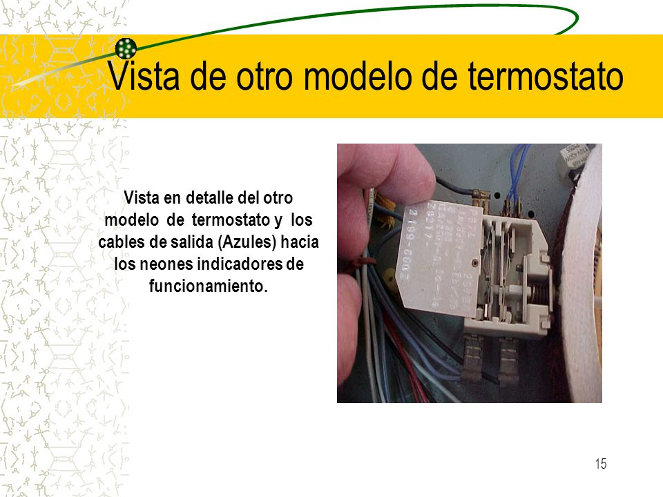 Vista de otro modelo de termostato