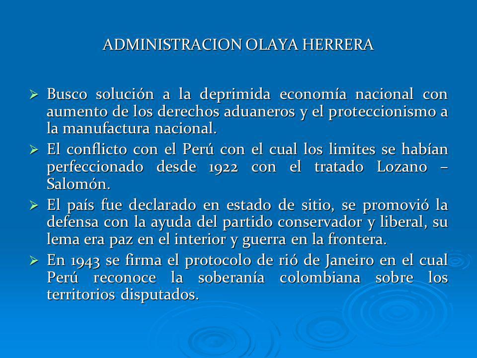 ADMINISTRACION OLAYA HERRERA