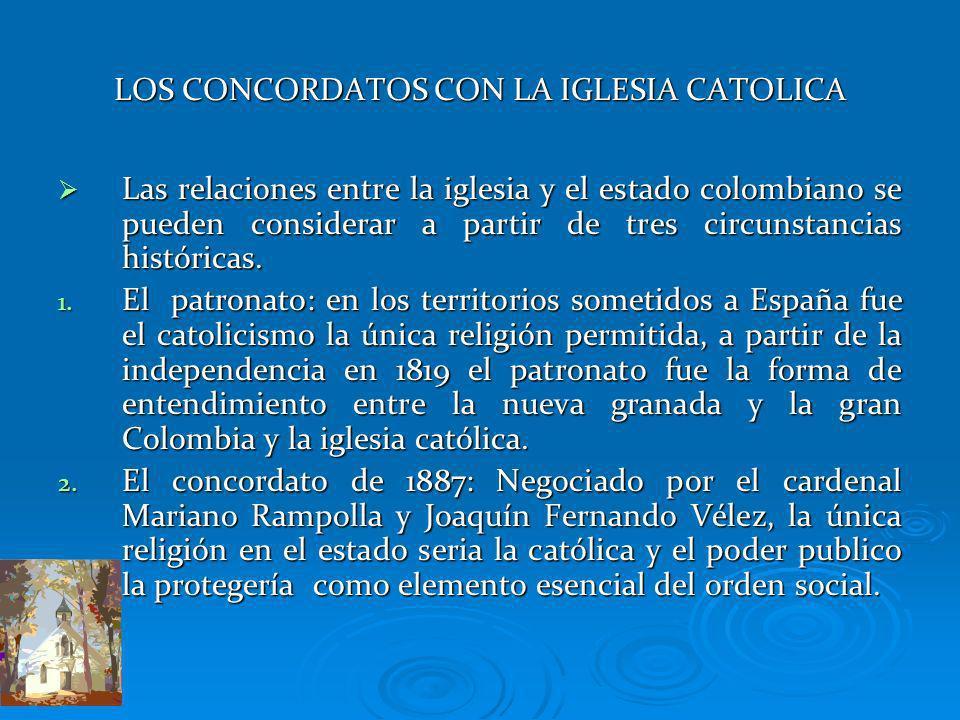 LOS CONCORDATOS CON LA IGLESIA CATOLICA