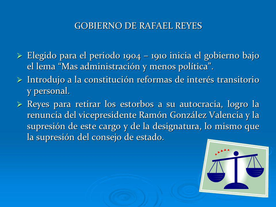 GOBIERNO DE RAFAEL REYES