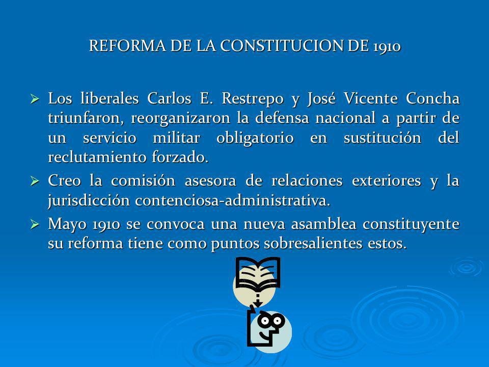 REFORMA DE LA CONSTITUCION DE 1910