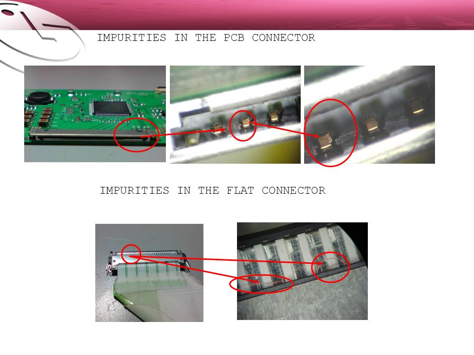 IMPURITIES IN THE PCB CONNECTOR