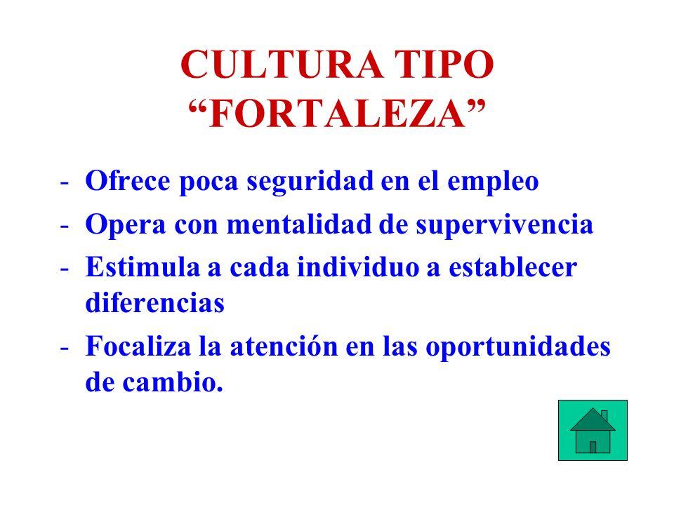 CULTURA TIPO FORTALEZA