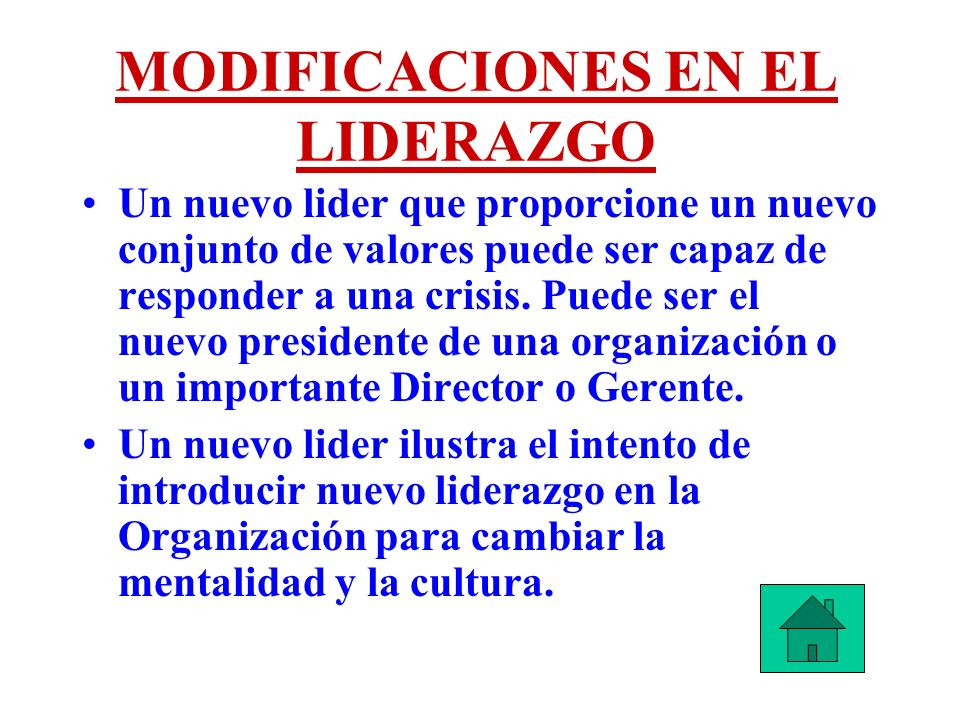 MODIFICACIONES EN EL LIDERAZGO