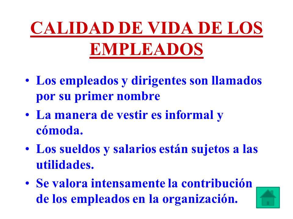 CALIDAD DE VIDA DE LOS EMPLEADOS