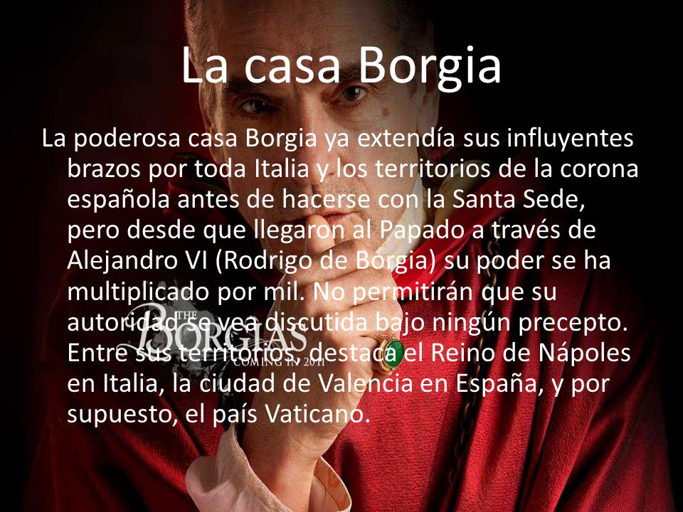 La casa Borgia