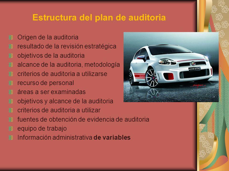 Estructura del plan de auditoria
