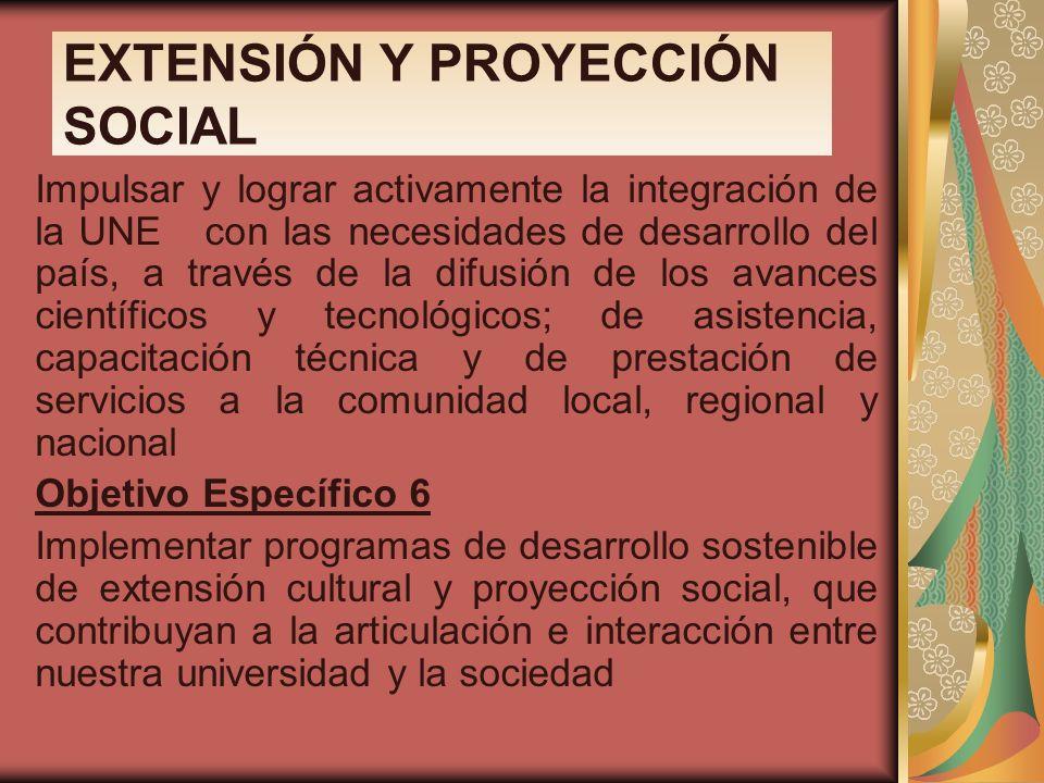 EXTENSIÓN Y PROYECCIÓN SOCIAL