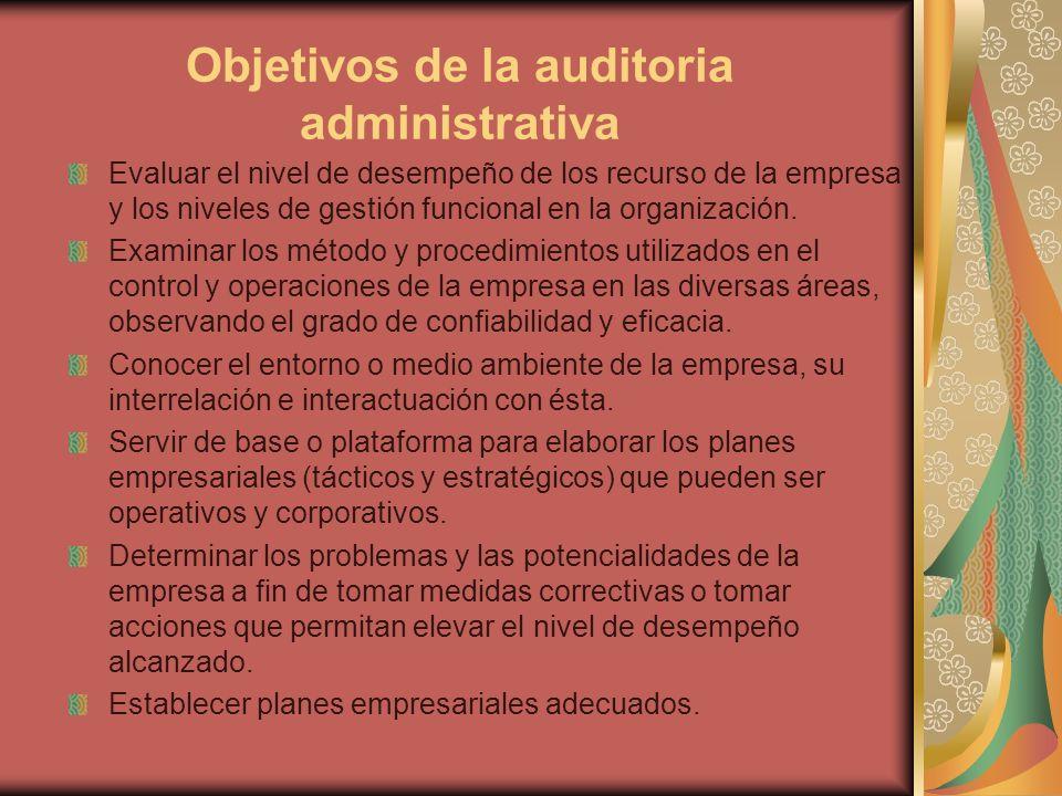 Objetivos de la auditoria administrativa