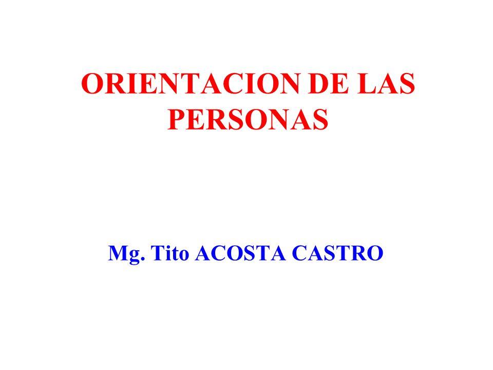ORIENTACION DE LAS PERSONAS