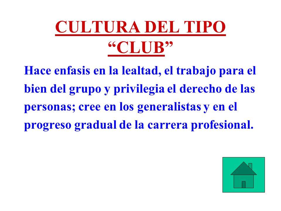 CULTURA DEL TIPO CLUB