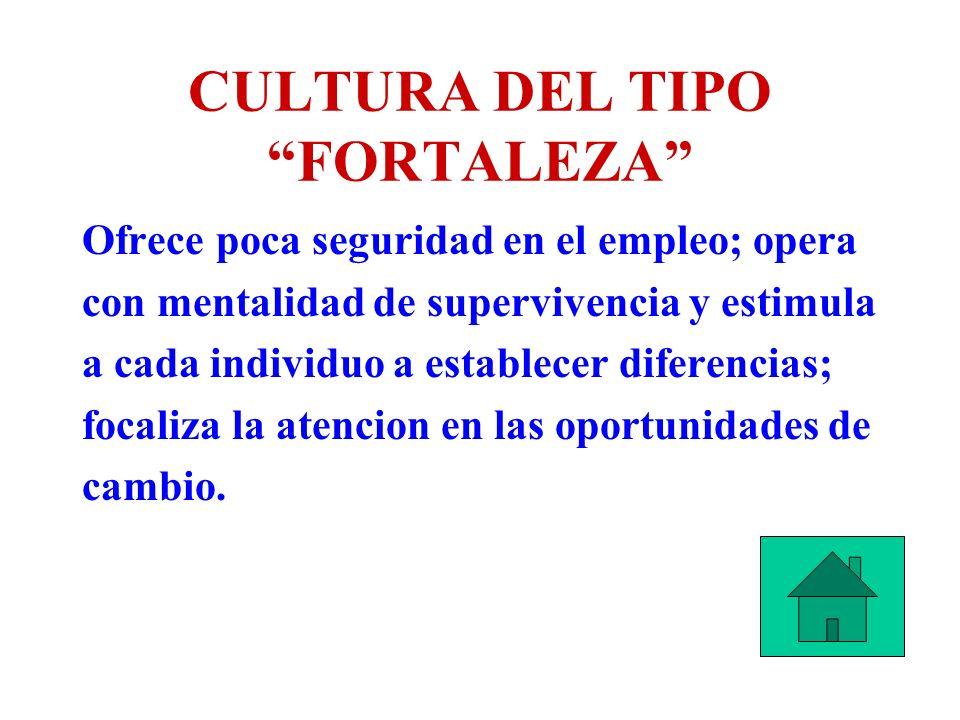 CULTURA DEL TIPO FORTALEZA