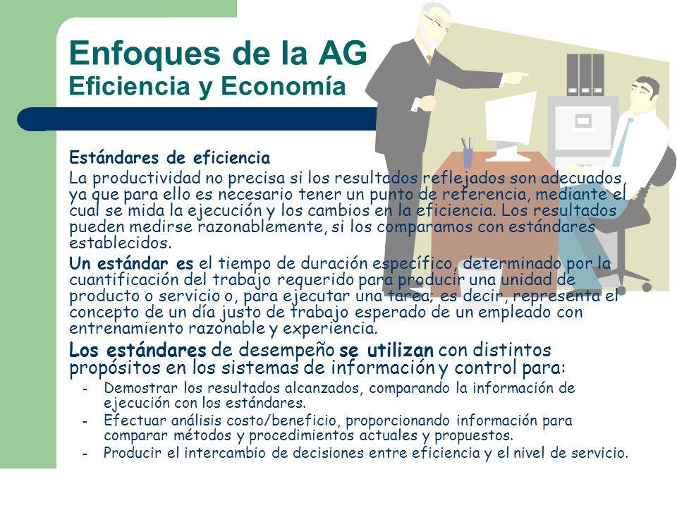 Enfoques de la AG Eficiencia y Economía
