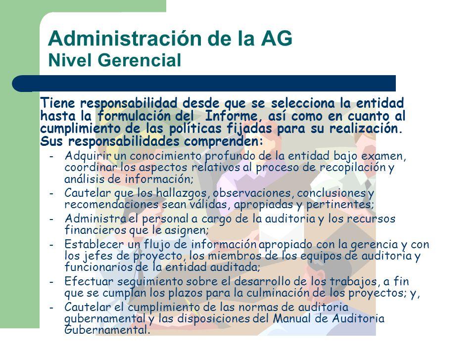 Administración de la AG Nivel Gerencial