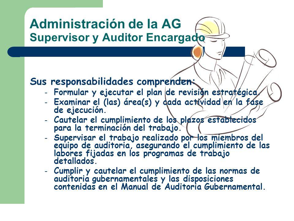 Administración de la AG Supervisor y Auditor Encargado