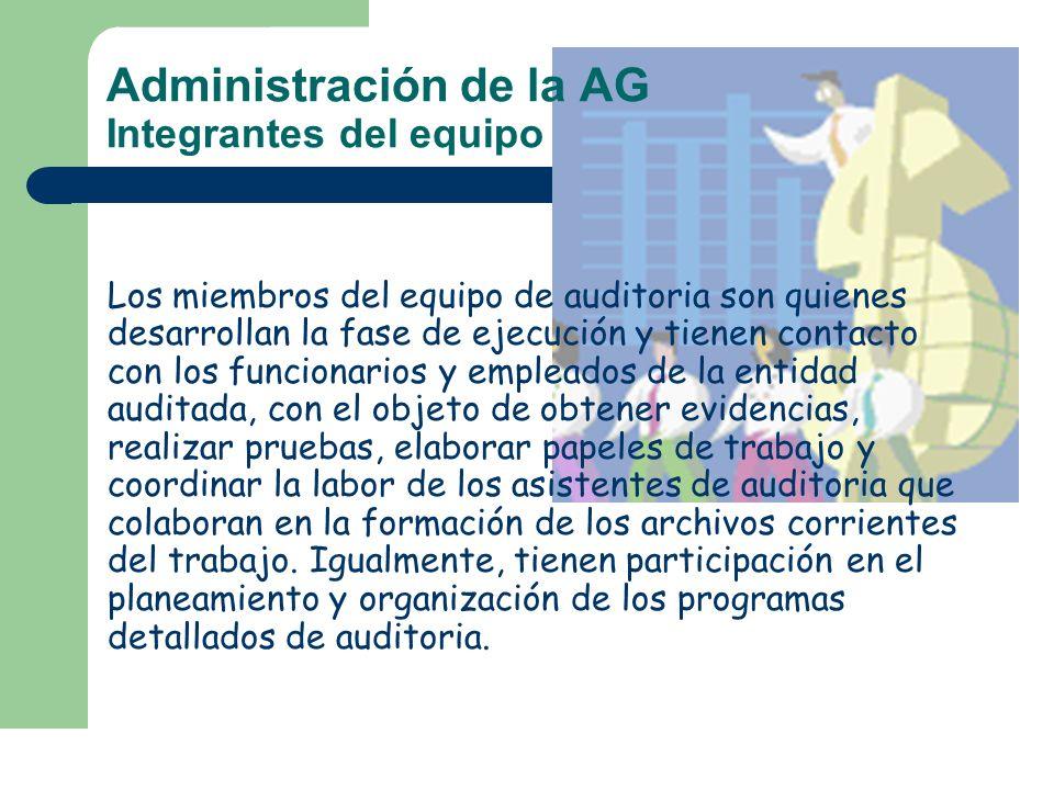 Administración de la AG Integrantes del equipo
