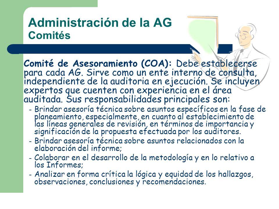 Administración de la AG Comités