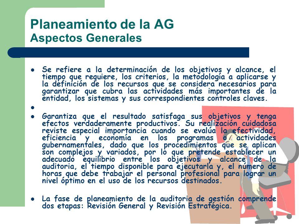 Planeamiento de la AG Aspectos Generales