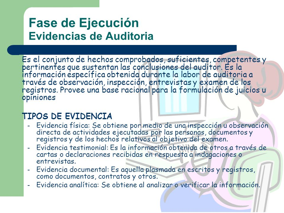 Fase de Ejecución Evidencias de Auditoria