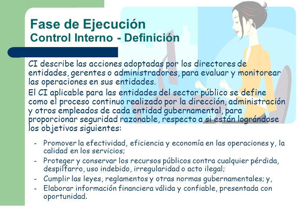 Fase de Ejecución Control Interno - Definición