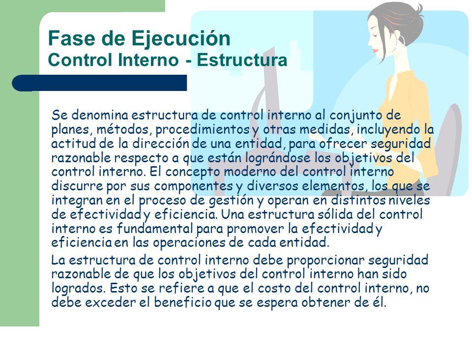 Fase de Ejecución Control Interno - Estructura