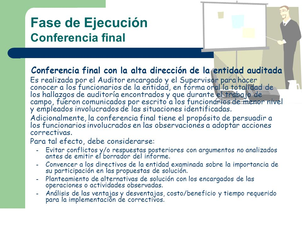 Fase de Ejecución Conferencia final