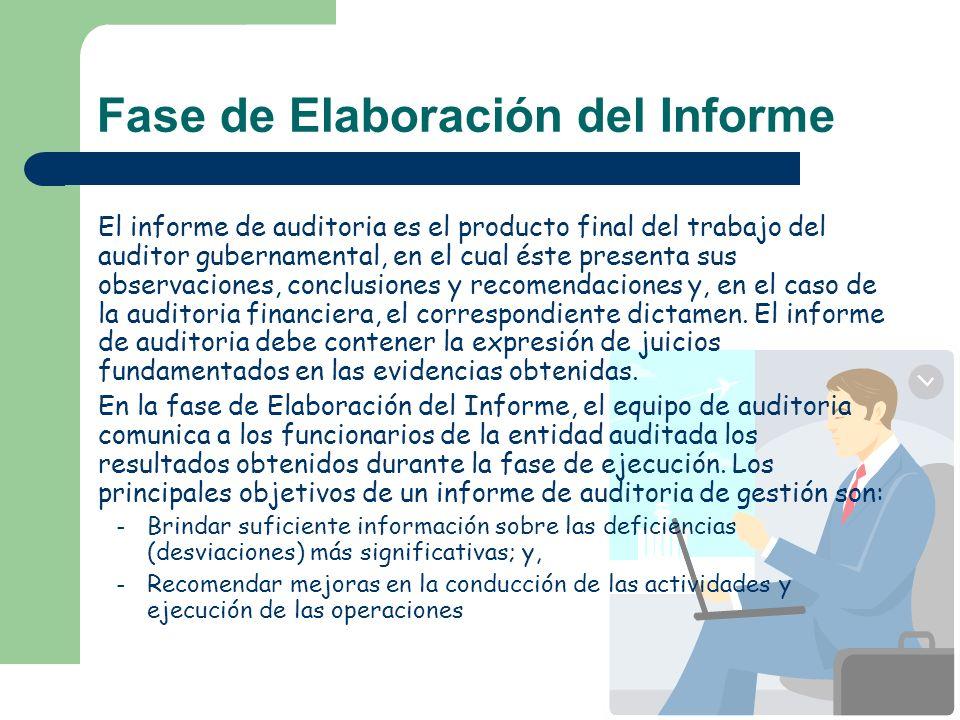 Fase de Elaboración del Informe