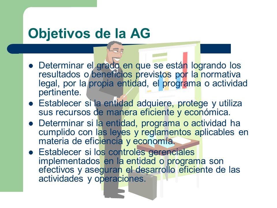 Objetivos de la AG