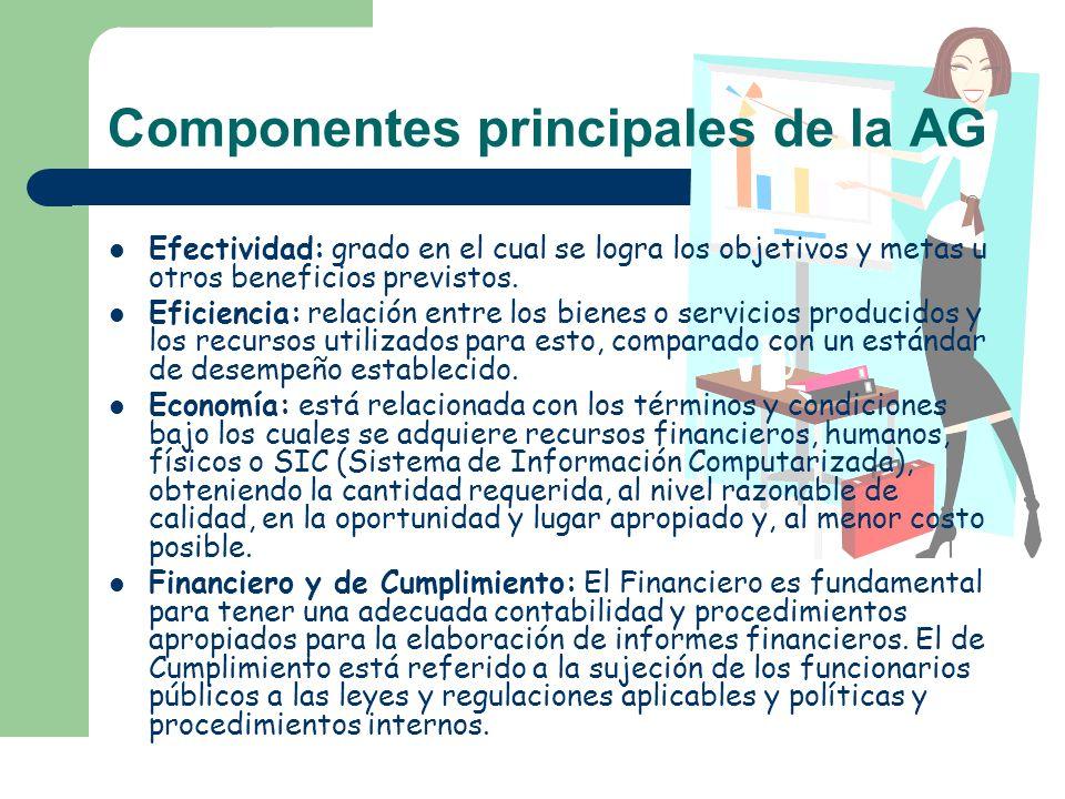 Componentes principales de la AG