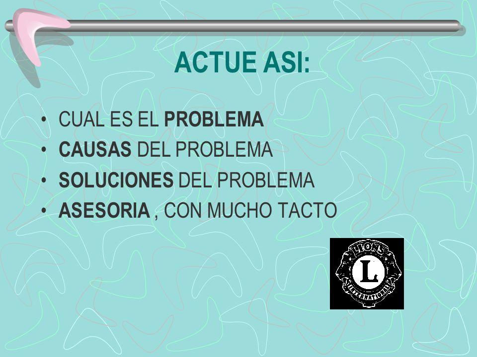 ACTUE ASI: CUAL ES EL PROBLEMA CAUSAS DEL PROBLEMA