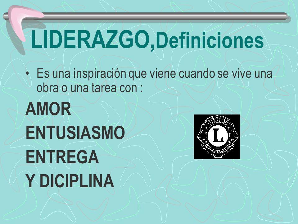 LIDERAZGO,Definiciones
