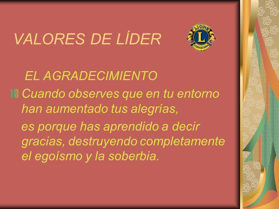 VALORES DE LÍDER EL AGRADECIMIENTO