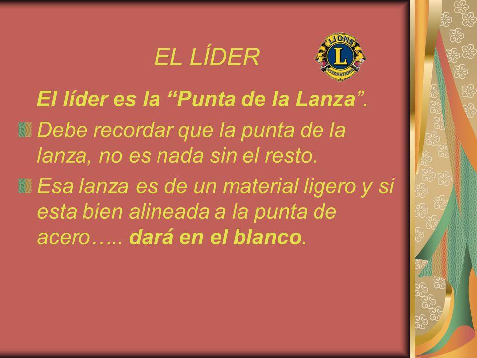 EL LÍDER El líder es la Punta de la Lanza .