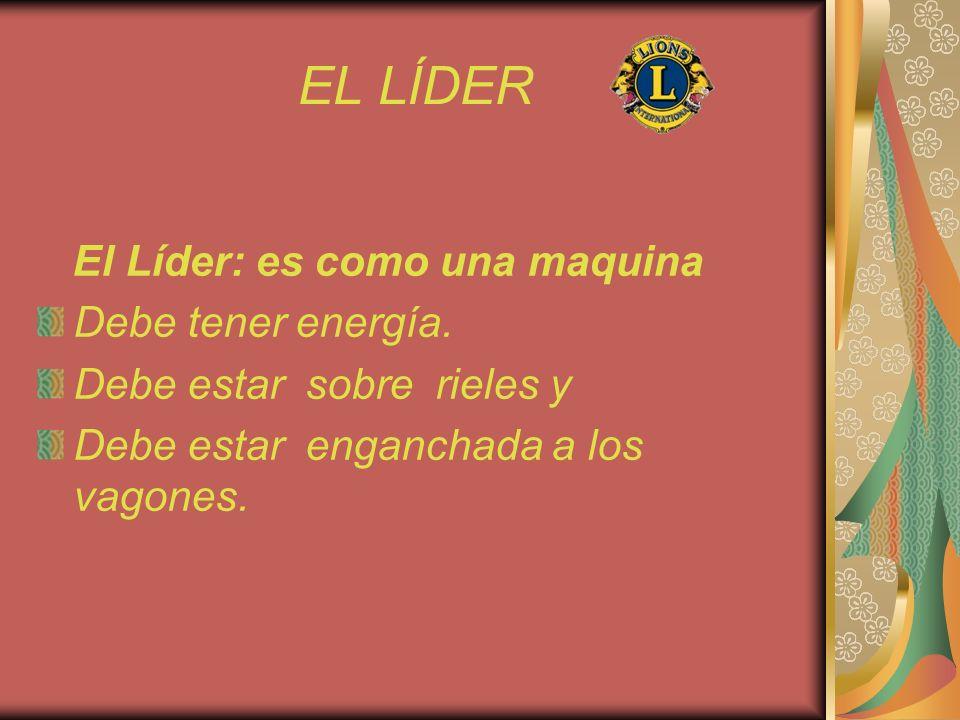 EL LÍDER El Líder: es como una maquina Debe tener energía.