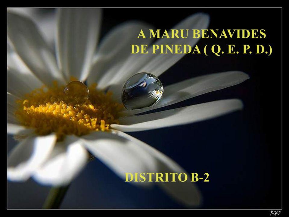 A MARU BENAVIDES DE PINEDA ( Q. E. P. D.)