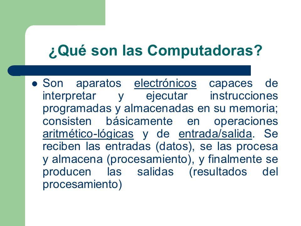 ¿Qué son las Computadoras