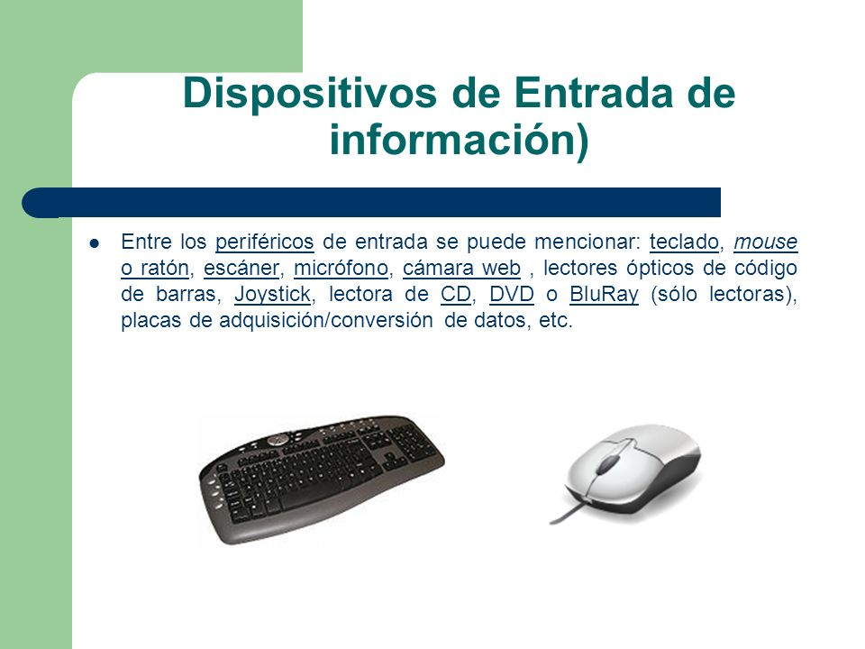 Dispositivos de Entrada de información)