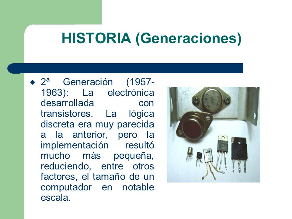 HISTORIA (Generaciones)
