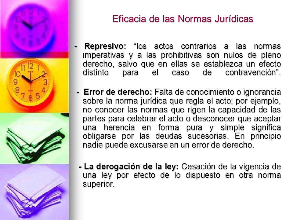 Eficacia de las Normas Jurídicas