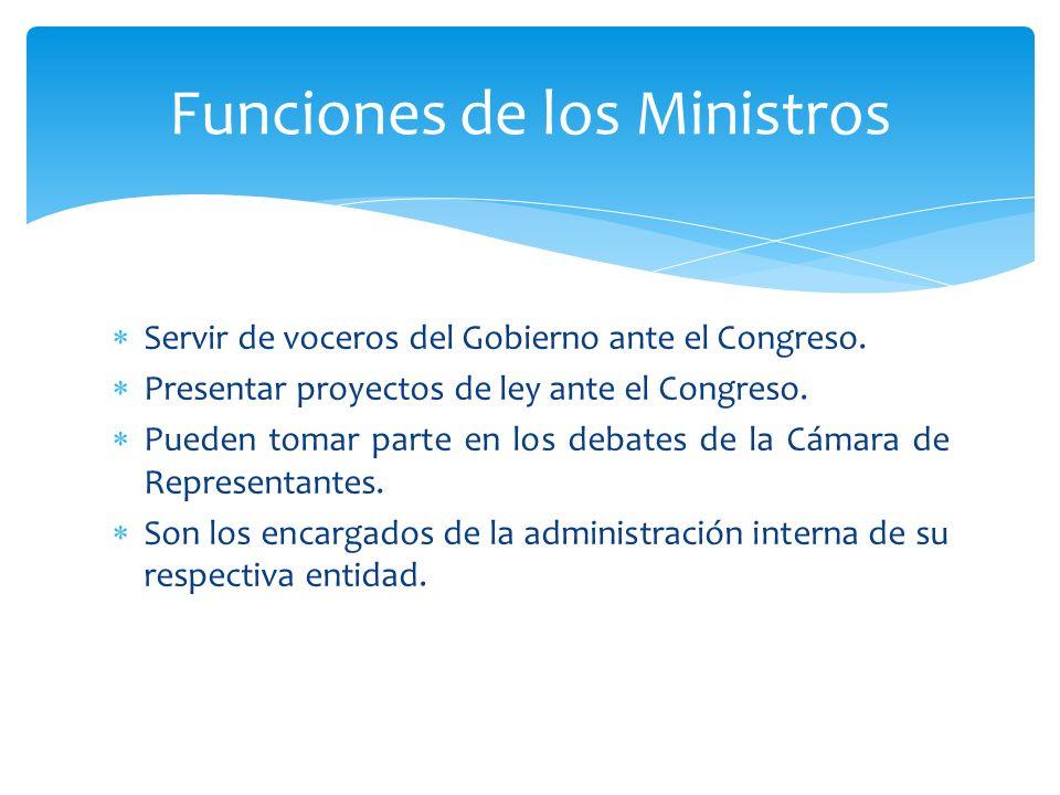Funciones de los Ministros